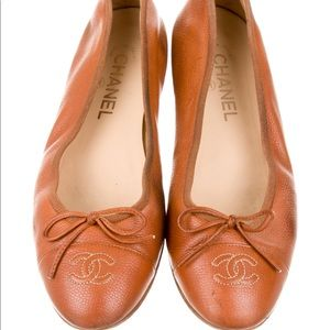 CHANEL Shoes - Chanel leather ballet flats